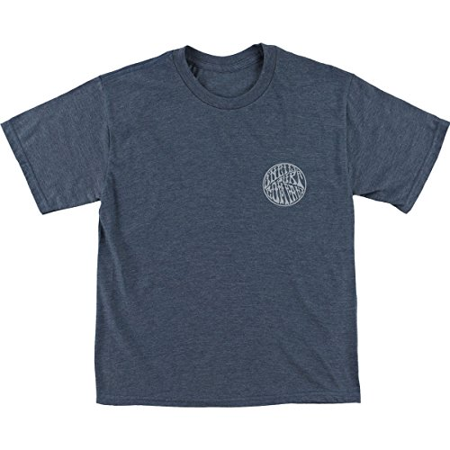 O'Neill Kids Boy's Palo Alto Short Sleeve Tee Screens Imprint (Big Kids) Navy Heather ()
