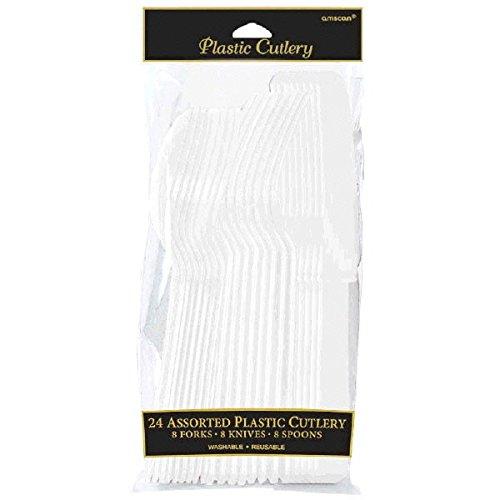 Amscan 4546.08 Party Supplies 24 pieces White -