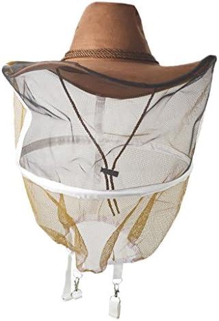 養蜂帽子 ベール 蚊 蜂対策 防虫 ネット フェースガード 通気性