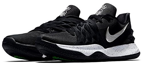 祖父母を訪問ステッチ沈黙ナイキ メンズ バスケットボール シューズ Nike Kyrie 4 Low カイリー4 Black/Metallic Silver/White バッシュ_26 [並行輸入品]