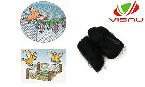 VISNU Bird Netting - Protect Plants and Fruit Trees-Protect Property & Crops From Damage & Mess,3/5-Inch Mesh -Against Birds,Deers and other Pests(7ft X 20ft)