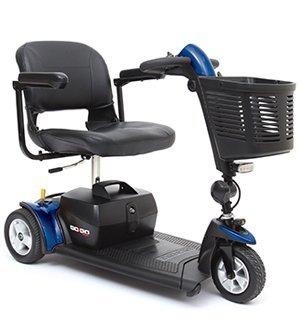 Go-Go Sport 3-Wheel Electric Travel Mobility Scooter S73 + Rear Basket