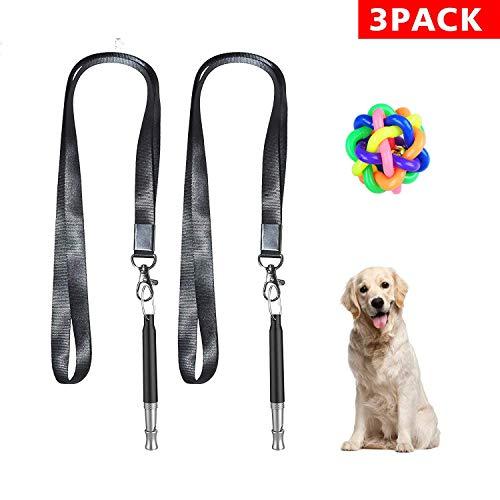 Ganlikon Dog Whistle to Stop Barking, Adjustable Pitch Ultrasonic Training Tool Silent Bark ()