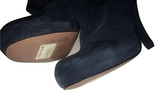 Blue Loop Real Petrol Ankle Suede Rouched Boots Detail USw81Sq5