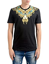 "<span class=""a-offscreen"">[Sponsored]</span>Collection Men's Black Graphic Short Sleeve T-Shirt US 2XL IT 56;"