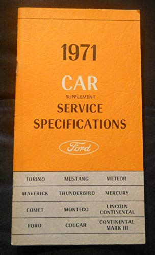 (1971 Ford Car Supplement Service Specifications)