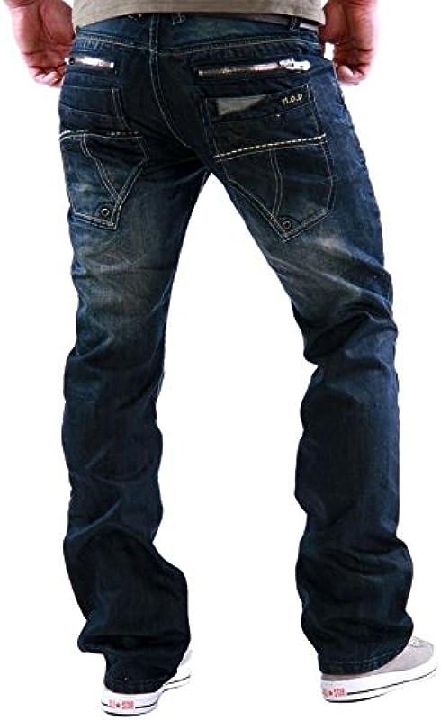 M.O.D. Miracle of Denim Monopol JEANS Danny algiers ciemnoniebieskie spodnie niebieskie MOD W29-W40 L32 L34 L36: Odzież