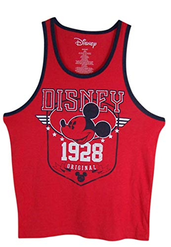 - Disney Mens Red Original 1928 Mickey Mouse Shirt (Medium)