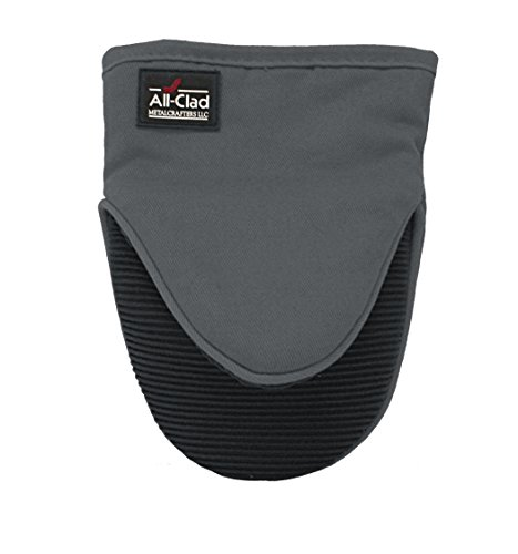 All-Clad Textiles Professional Silicone Grabber Mitt, Pewter