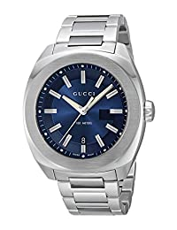 Gucci Men's YA142205 Analog Display Swiss Quartz Silver Watch