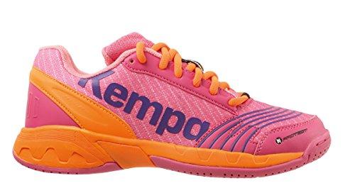 Kempa Attack Junior, Zapatillas de Balonmano para Niñas Rosa (Rose/carotte)
