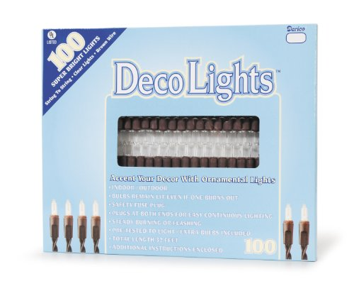 Darice LT100-5 Bulb Light Set, 100-Light, Clear
