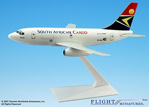 Airlines South 200 African - Flight Miniatures South African Cargo Boeing 737-200 1:180 Scale New Colors Display Model