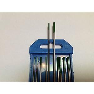 10PCS of 3/32″ & 1/8″ 7″,Green WP,Pure Tungsten Welding & TIG Electrodes (ETA:7-12 WORK DAYS)