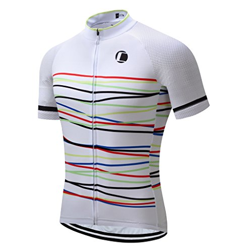 Coconut Ropamo Summer Men Cycling Jersey Road Bike Shirt Short Sleeve Breathable 100% Polyester (XL, 2032)