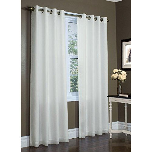 Commonwealth Thermavoile 84″ Grommet Curtain Panel in Ivory
