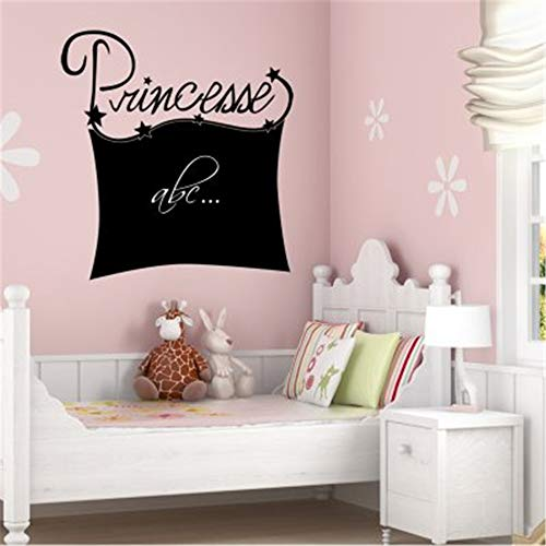Vinyl Wall Sticker Decal Quote Home Decor Princess Stickers Chalk Board -