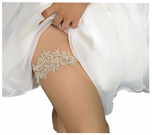 Wedding garters for bride and bridesmaid bridal garter lace (champange)