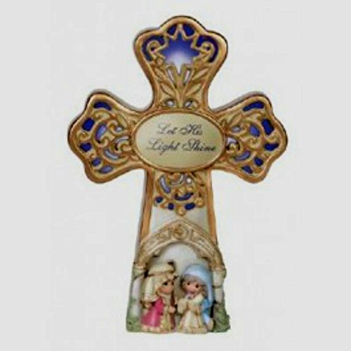 Precious Moments LED Musical Nativity Christmas Cross