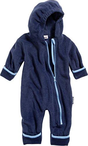 Playshoes Unisex Baby Schneeanzug Fleeceoverall, Fleeceanzug, Oeko Tex Standard 100, Gr. 80, Blau (marine 11)