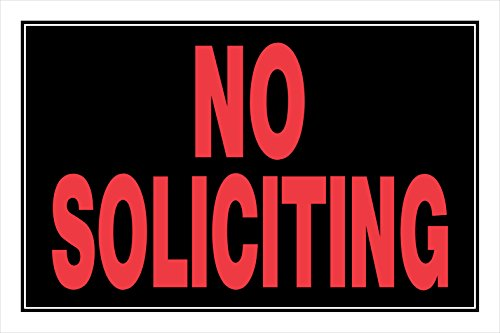 Usdm Type (Hillman 840266 No Soliciting Sign, Black and Red Plastic, 8x12 Inches 1-Sign)