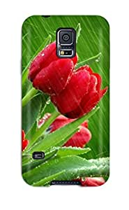 Hot Snap-on Roses In The Rain Hard Cover Case/ Protective Case For Galaxy S5