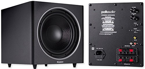 Polk Audio PSW125 12-Inch Powered Subwoofer (Single, Black