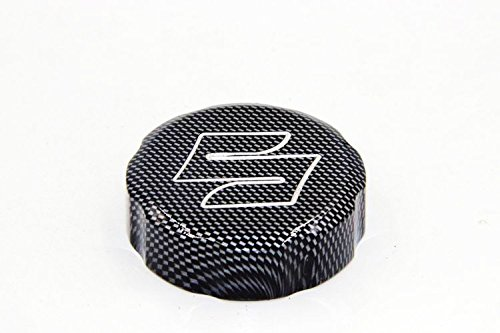 HTTMT Group Motorcycle Carbon Fiber Billet Aluminum Brake Fluid Reservoir Cap Cover