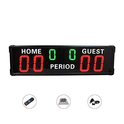 NEWTRY 得点板 スコアボード スポーツタイマー LEDタイマー 大型 6桁 野球/サッカー/バスケ/卓球/バドミントン/競技/試合など用 室外用  得点板+三脚