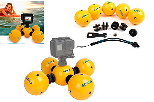 AquaSphere - (5 pc) Floaty Float Floating Buoyancy Waterproof Ball Device for GoPro Accessories Hero Hero3 Hero4 Hero5 SjCam Action Camera - Used for Watersports Swmming Diving Snorkal By - Review Goggles Surf