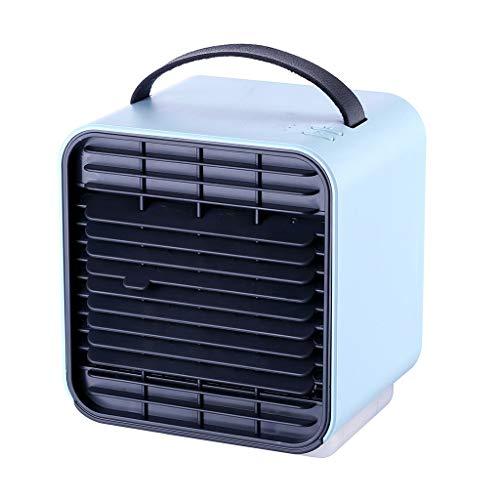 Personal Space Mini Air Conditioner, Yucode Portable USB Noiseless Air Cooler Humidifier Purifier Mini Evaporative Fan Blue ()
