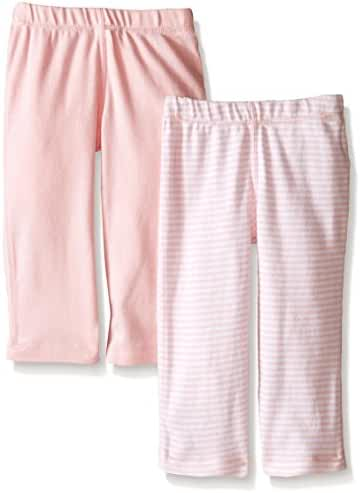 Burt's Bees Baby Set of 2 Essentials Footless Pants, 100% Organic Cotton