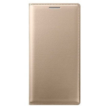 the latest a4de0 1aa0e Buy Samsung Galaxy J7 2016 Original Leather Flip Cover (Gold) Online ...