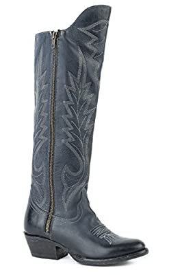 Stetson 16In Tumbled Womens Blue Leather Idol Cowboy Boots