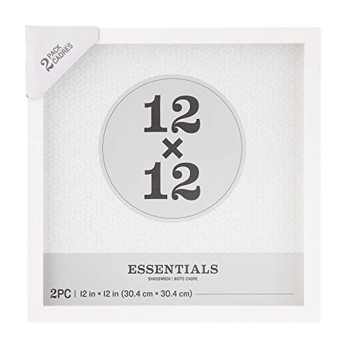 Darice Essentials White 12 x 12 inches, 2 Pieces Shadow Box,