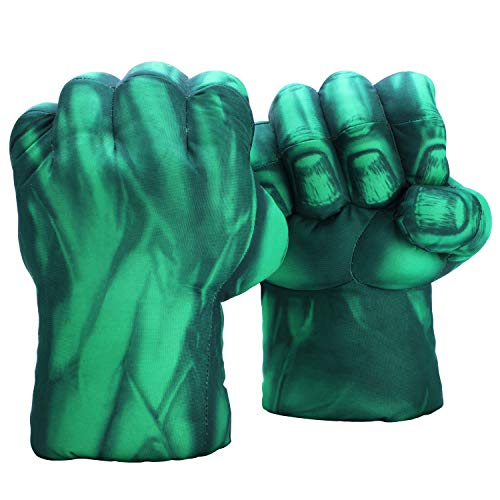 The Hulk Gloves (FAIRZOO Hulk Smash Hands Fists Big Soft Plush Gloves Pair Costume)