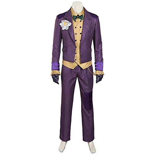 COSSHOW Batman Arkham Asylum Cosplay Costume Joker Stripe Uniform Halloween -