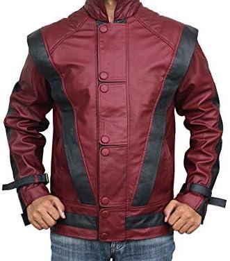 FashionAve London Mens Zipped Slim Fit Extraordinary-Quality Lambsheep Leather Casual Jacket
