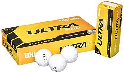 Wilson Ultra 500 Distance Golf Ball (15-Pack), White (Renewed)
