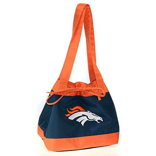 NFL Denver Broncos Womens Fashion Insulated Lunch Tote with Embroidered Logo by Little Earth