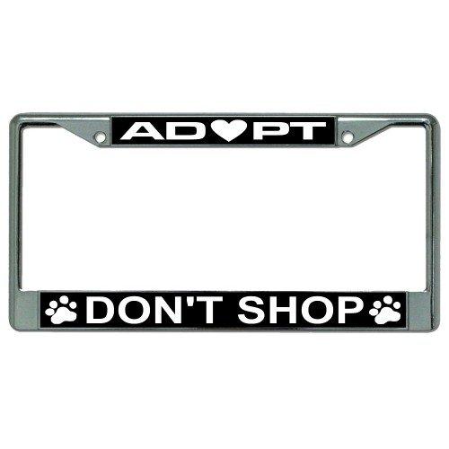 Adopt Don't Shop Photo License Plate - Shop Frame Online