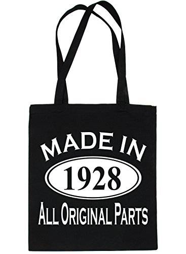 Birthday Life Shopping 1928 Tote Made Bag 90th In Print4u For Black xf4CTwxz