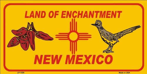New Mexico State Background Red Chili /& Road Runner License Plates