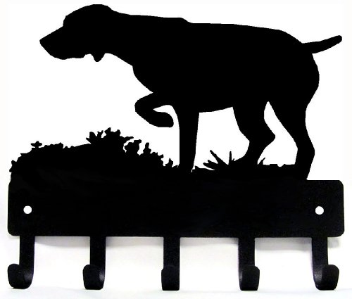 GSP on Point - German Shorthaired Pointer Key Rack & Dog Leash Hanger - Small 6 inch