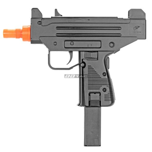 - BBTac BT-M33 Compact 10-Inch SMG 230 FPS Spring Concealable Airsoft Gun with 22 Round Clip/Magazine