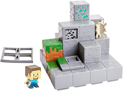 minecraft mini figure mining mountain environment set. Black Bedroom Furniture Sets. Home Design Ideas