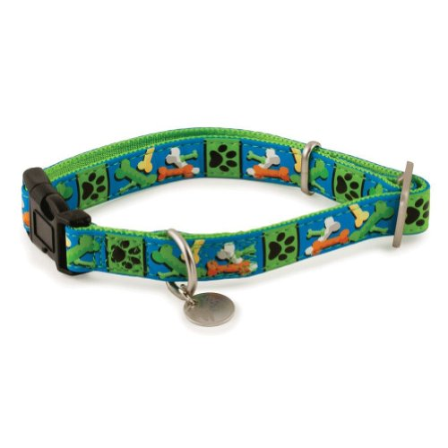 PetSafe Bark Avenue Quick Snap Dog Collar, Large, 1-Inch, Parade of Bones ()