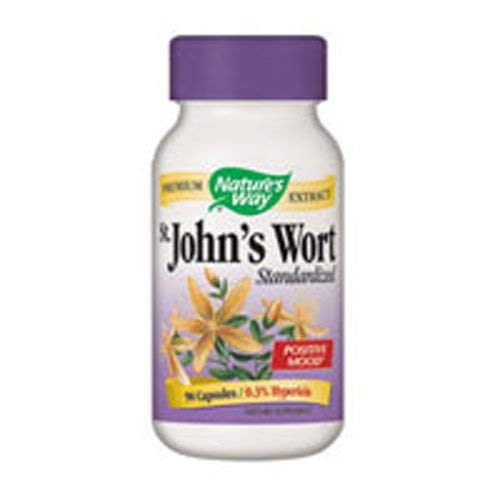 Natures Way St Johns Wort Standardized Capsule - 90 per pack -- 3 packs per case.