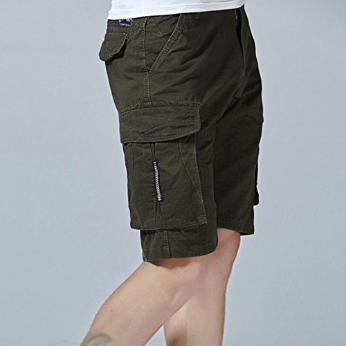 Allywit Clearance Sale Men Pants Fashion Mens Casual Pocket Beach Work Casual Short Trouser Shorts Pants by Allywit (Image #4)