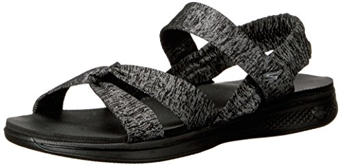 Skechers Performance Womens H2 Goga Bountiful Flip Flop Schwarz